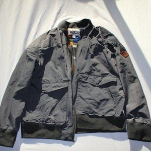 WOOLRICH Mens Canvas Jacket Slate Charcoal Gray